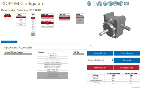 Winsmith Product Configurator